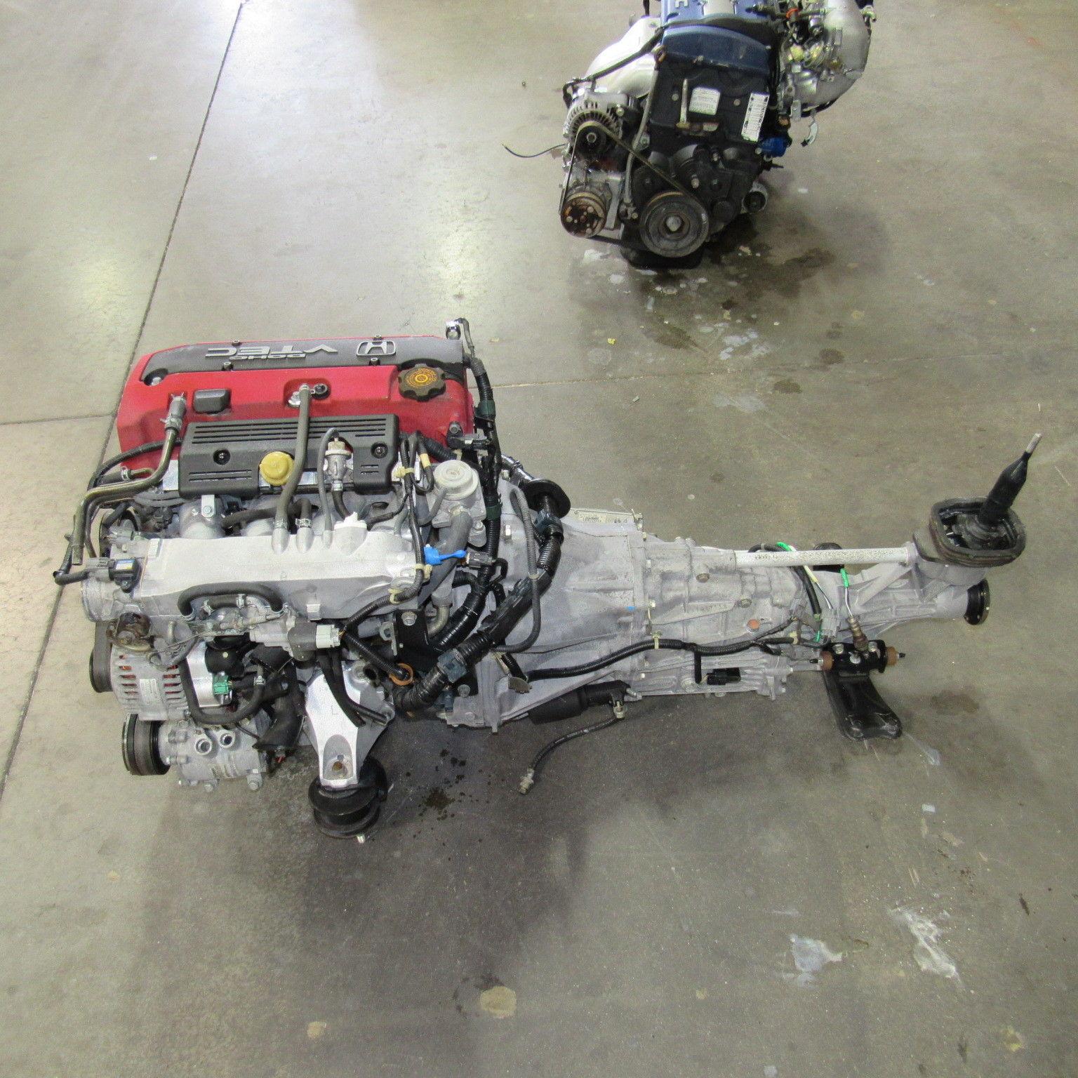 S2000 Honda Cylinder Heads: JDM Honda F20C VTEC Engine And 6 Speed Transmission S2000